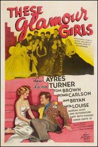 """These Glamour Girls (MGM, 1939). One Sheet (27"""" X 41"""") Style C. Comedy"""