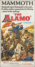 "Movie Posters:Western, The Alamo (United Artists, 1960). Three Sheet (41"" X 81"") Flat Folded. Western.. ..."