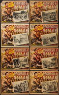 "Movie Posters:War, Back to Bataan (Grandes Films, 1945). Mexican Lobby Card Set of 8(13"" X 16""). War.. ... (Total: 8 Items)"