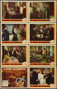 "A Man Betrayed (Republic, 1941). Lobby Card Set of 8 (11"" X 14""). Mystery. ... (Total: 8 Items)"