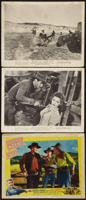 "Red River (United Artists, R-1952). Lobby Cards (3) (11"" X 14""). Western. ... (Total: 3 Items)"