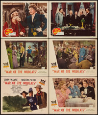 "War of the Wildcats (Republic, 1943). Title Lobby Card and Lobby Cards (5)(11"" X 14""). Western. ... (Total: 6..."