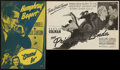 "Movie Posters:Swashbuckler, The Prisoner of Zenda (United Artists, R-1941). Uncut Pressbooks (4) (Multiple Pages, 11"" X 17"" & 12"" X 18""). Comedy.. ... (Total: 4 Items)"