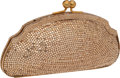 Luxury Accessories:Bags, Heritage Vintage: Judith Leiber Prototype Full Bead ChampagneCrystal Kiss-Lock Minaudiere . ...