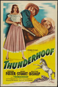 "Movie Posters:Western, Thunderhoof (Columbia, 1948). One Sheet (27"" X 41""). Western.. ..."