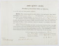 Autographs:U.S. Presidents, John Quincy Adams Signed Naval Appointment....