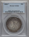 Bust Half Dollars: , 1808/7 50C VF30 PCGS. PCGS Population (22/138). NGC Census:(3/129). Numismedia Wsl. Price for problem free NGC/PCGS coin ...