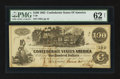 Confederate Notes:1862 Issues, T39 $100 1862 PF-6.. ...