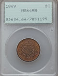 Two Cent Pieces: , 1869 2C MS64 Red and Brown PCGS. PCGS Population (107/43). NGCCensus: (130/141). Mintage: 1,546,500. Numismedia Wsl. Price...