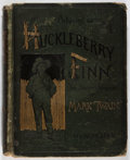 Books:Literature Pre-1900, Mark Twain. Adventures of Huckleberry Finn. Webster, 1885.First edition, later state. Hinges and binding cracke...