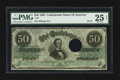 Confederate Notes:1862 Issues, Major Error T50 $50 1862 PF-18 Cr. 361A.. ...