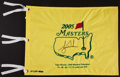 Golf Collectibles:Autographs, 2005 Tiger Woods Signed UDA Masters Flag. ...