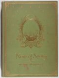 Books:Natural History Books & Prints, Maurice Maeterlinck. News of Spring. Dodd, Mead, 1913. First edition, first printing. Front hinge cracked. Toning an...