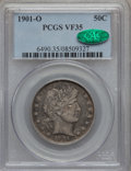 Barber Half Dollars: , 1901-O 50C VF35 PCGS. CAC. PCGS Population (8/55). NGC Census:(0/45). Mintage: 1,124,000. Numismedia Wsl. Price for proble...