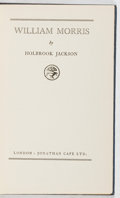 Books:Books about Books, [Books About Books]. Holbrook Jackson. William Morris. Jonathan Cape, 1926. Later edition. Toning and offsetting. Ve...
