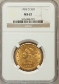 Liberty Eagles: , 1903-O $10 MS62 NGC NGC Census: (293/77). PCGS Population(327/113). Mintage: 112,771. Numismedia Wsl. Price for problemfr...