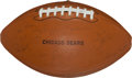 Football Collectibles:Balls, 1974 Chicago Bears Team Signed Football....