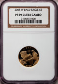Modern Issues, 2008-W G$5 Bald Eagle PR69 Ultra Cameo NGC. NGC Census: (358/1327).PCGS Population (1481/435). Numismedia Wsl. Price for ...