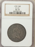 Early Half Dollars, 1795 50C 2 Leaves VG10 NGC. O-131. NGC Census: (91/656). PCGSPopulation (225/863). Mintage: 299,680. Numismedia Wsl. Price...