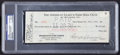 Baseball Collectibles:Others, 1930 Ed Barrow Signed Check....