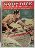 Books:Fiction, Herman Melville. Moby Dick. Grosset & Dunlap, ca. 1925.Photoplay edition. Toning. Wear to dj with tape repairs. Ver...