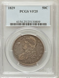 Bust Half Dollars: , 1829 50C Small Letters VF25 PCGS PCGS Population (36/1312). NGCCensus: (20/1051). Mintage: 3,712,156. Numismedia Wsl. Pric...