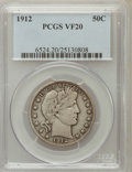 Barber Half Dollars: , 1912 50C VF20 PCGS PCGS Population (21/443). NGC Census: (3/289).Mintage: 1,550,700. Numismedia Wsl. Price for problem fre...