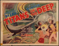 """Movie Posters:Documentary, Titans of the Deep (Grand National, 1938). Half Sheet (22"""" X 28""""). Documentary.. ..."""