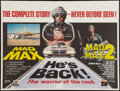 """Movie Posters:Science Fiction, Mad Max and Mad Max 2 Combo (Columbia-EMI-Warner, 1982). BritishQuad (30"""" X 40""""). Science Fiction.. ..."""