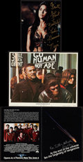 """Movie Posters:Science Fiction, Planet of the Apes and Other Lot (20th Century Fox, 1968). LobbyCard (11"""" X 14""""), Autographed Photo (8"""" X 10""""), and Autogra...(Total: 3 Items)"""