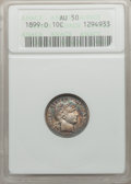 Barber Dimes, 1899-O 10C AU50 ANACS. NGC Population (2/62). NGC Census: (1/63).Mintage: 2,650,000. Numismedia Wsl. Price for problem fre...