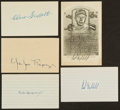 Baseball Collectibles:Others, Baseball Greats Signed Index Card, etc. Lot of 5....