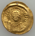 Ancients:Byzantine, Ancients: Justinian I (AD 527-565). AV solidus (4.47 gm)....