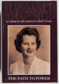 Books:Biography & Memoir, Margaret Thatcher. SIGNED. The Path to Power. HarperCollins,1995. First American edition, first printing. Signed ...
