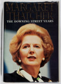 Books:Biography & Memoir, Margaret Thatcher. SIGNED. The Downing Street Years. HarperCollins, 1993. Third printing. Signed by the author...