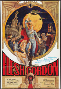 "Flesh Gordon (Constantin Film, 1974). German A1 (23.25"" X 33""). Sexploitation"