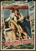 "Movie Posters:Adventure, Reap the Wild Wind (Paramount, 1948). Small Italian First Post-WarRelease Poster (13.5"" X 19""). Adventure.. ..."