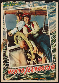 """Reap the Wild Wind (Paramount, 1948). Small Italian First Post-War Release Poster (13.5"""" X 19""""). Adventure..."""