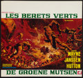 "Movie Posters:War, The Green Berets (Warner Brothers, 1968). Belgian (21.5"" X 23"").War.. ..."