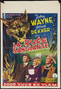 """Movie Posters:Western, In Old Oklahoma (Republic, Late 1940s). Belgian (14.5"""" X 21""""). Western.. ..."""