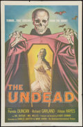 """Movie Posters:Horror, The Undead and Other Lot (American International, 1957). One Sheets (2) (27"""" X 41""""). Horror.. ... (Total: 2 Items)"""