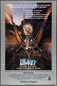 """Heavy Metal (Columbia, 1981). One Sheets (2) (27"""" X 41"""") Advance and Style B. Animation. ... (Total: 2 Items)"""