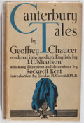 Books:Literature 1900-up, Geoffrey Chaucer. Canterbury Tales. Covici Friede, 1934.First edition, first printing. Foxing. Price-clipped. Tape ...