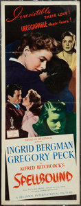 "Movie Posters:Hitchcock, Spellbound (United Artists, 1945). Insert (14"" X 36""). Hitchcock.. ..."