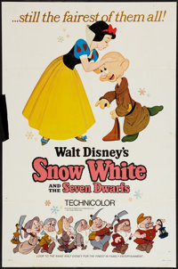 """Snow White and the Seven Dwarfs (Buena Vista, R-1967). One Sheet (27"""" X 41"""") Style A. Animation"""