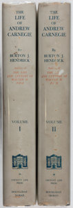 Books:Biography & Memoir, Burton J. Hendrick. The Life of Andrew Carnegie. Vol. I& II. Doubleday, Doran, 1932. First edition, first print...(Total: 2 Items)