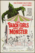 """Movie Posters:Horror, The Beach Girls and the Monster (U.S. Films Inc., 1965). One Sheet(27"""" X 41""""). Horror.. ..."""