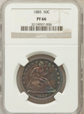 Proof Seated Half Dollars: , 1885 50C PR66 NGC. NGC Census: (19/7). PCGS Population (5/3).Mintage: 930. Numismedia Wsl. Price for problem free NGC/PCGS...