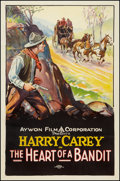"""Movie Posters:Western, The Heart of a Bandit (Aywon, R-Early 1920s). One Sheet (27"""" X41""""). Western.. ..."""