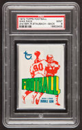 Football Cards:Singles (1970-Now), 1972 Topps Football Unopened Wax Pack PSA Mint 9 With RogerStaubach Rookie on Back!...